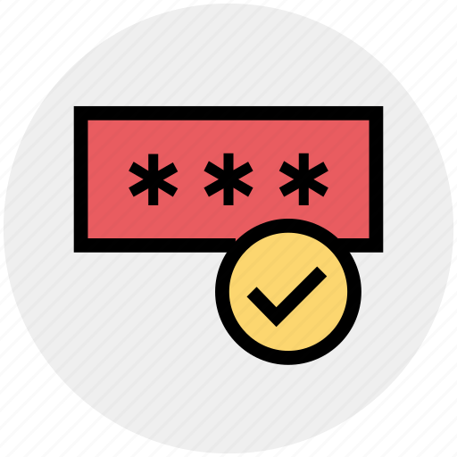 Check, locked, password, password check, password correct icon - Download on Iconfinder