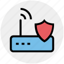 device, internet device, security, shield, wifi, wifi device, wifi signal secure icon