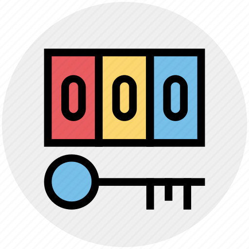 Digital key, digital security, key, numeric code, pin code, security concept icon - Download on Iconfinder