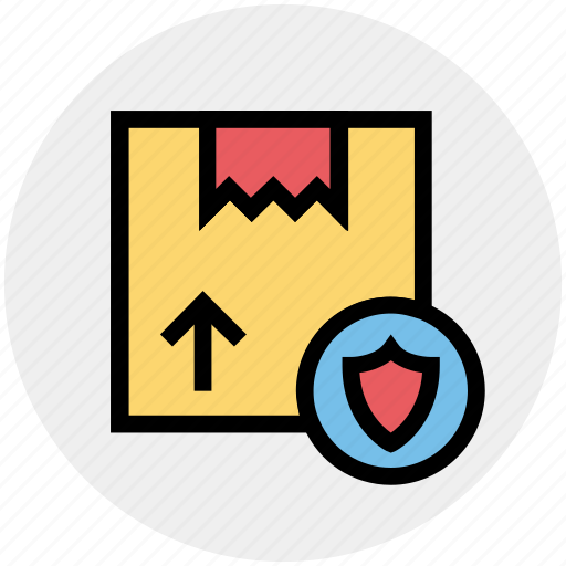 Box, delivery, package, protection, shield icon - Download on Iconfinder