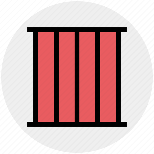 Correctional facility, jail, jail cell, lock up, prison cell icon - Download on Iconfinder