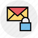 envelope, letter secure, lock, lock message, locked, mail, message