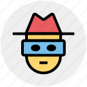detective, incognito, robber, spy, thief icon