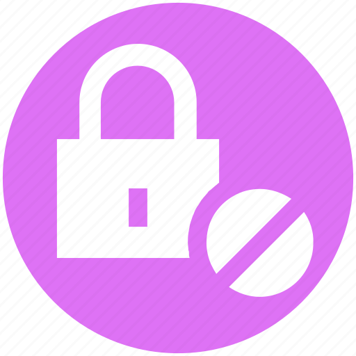 Ban, lock, locked, padlock, security icon - Download on Iconfinder