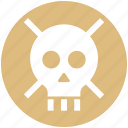 danger, defender, lock, protection, security, skull, wanted