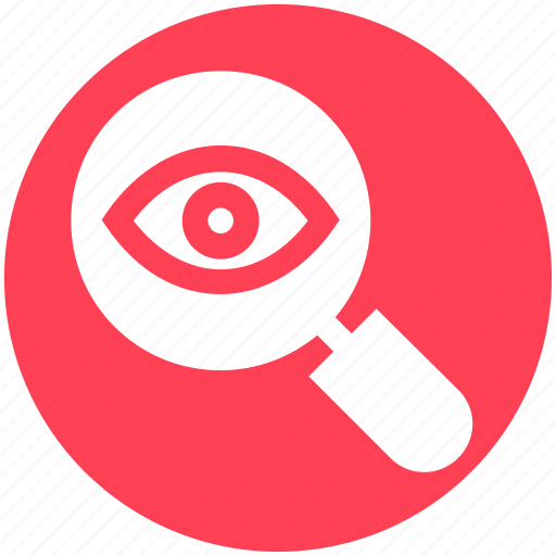 Crime, eye, lock, magnifier, magnifier eye, review, search icon - Download on Iconfinder