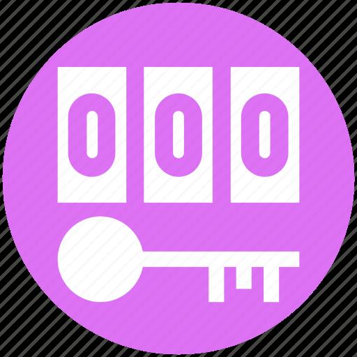 digital key, digital security, key, numeric code, pin code, security concept icon