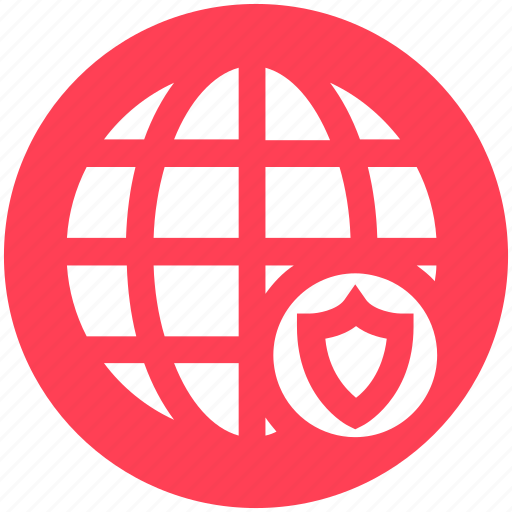 Cyber security, globe protection, protect, security, shield, world globe icon - Download on Iconfinder