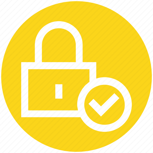 Check, check security, lock, locked, padlock, password, secure icon - Download on Iconfinder