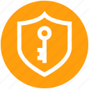 antivirus, firewall security, key, protection shield, shield icon