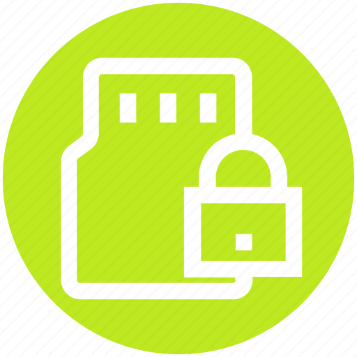 Card, device, lock, memory card, mobile card, sd, security icon - Download on Iconfinder