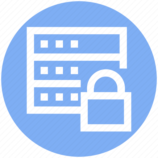 Data protection, network security, secure database, server locked, server security icon - Download on Iconfinder