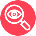 crime, eye, lock, magnifier, magnifier eye, review, search