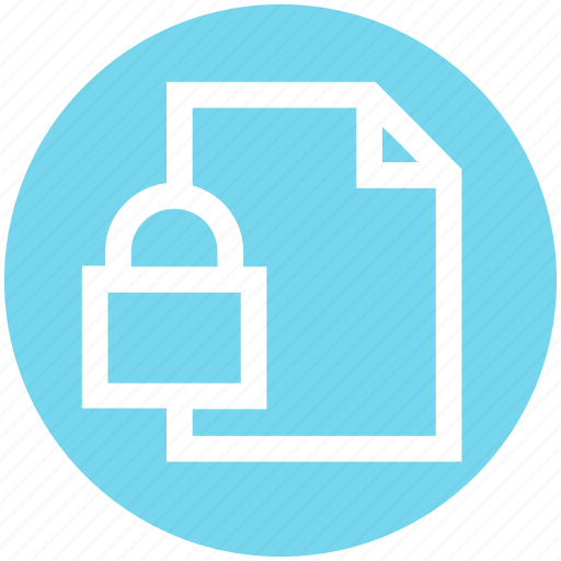 Document, file, lock, locked, paper, secure page, security paper icon - Download on Iconfinder
