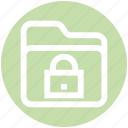 encryption, files, folder, lock, locked, safety, secured icon