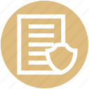 data security, document, file, file security, sheet icon