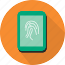 finger, fingerprint, identification, print, scan, secure, security icon