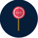 road sign, sign, stop, warning icon