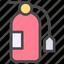 extinguishing, fire, fire xtinguishing icon