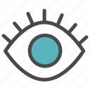 peep, track, tracking icon