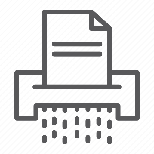 confidential, data, destroy, document, file, paper, shredder icon