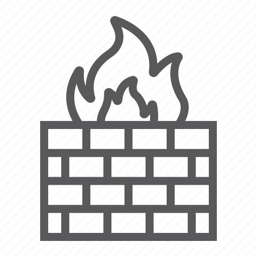 fire, firewall, internet, protection, safety, security, wall icon