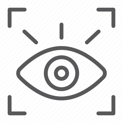 authentication, eye, recognition, retina, scan, scanner, security icon