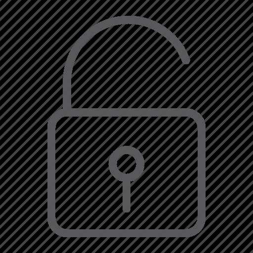 code, key, lock, padlock, password, security, unlock icon