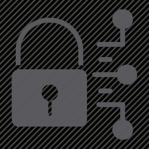 cyber, digital, lock, padlock, protection, security icon