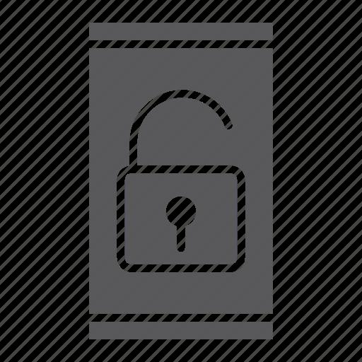 device, protection, smartphone, technology, unlock, unlocked icon