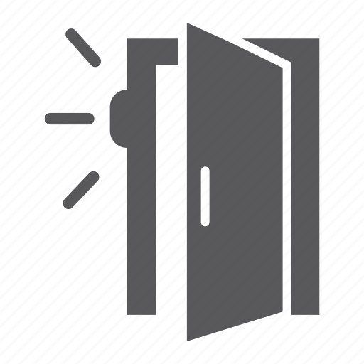 access, automatic, door, guard, protection, security, sensor icon