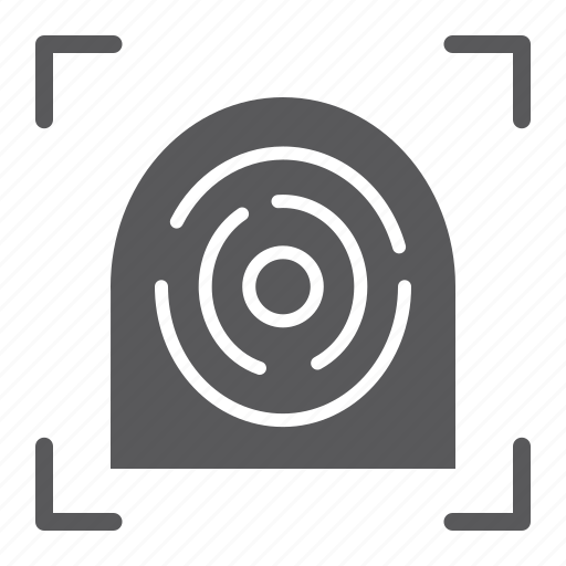 finger, fingerprint, id, print, protection, scan, security icon