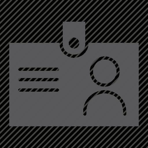badge, card, id, identification, identity, name, tag icon