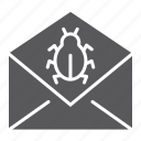 attack, bug, email, mail, message, security, virus icon