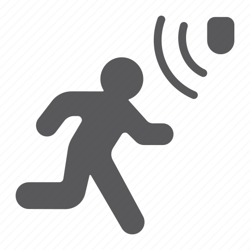 danger, detection, detector, guard, motion, security icon