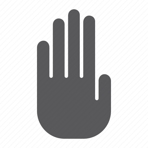 danger, hand, palm, security, sign, stop, warning icon