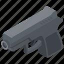 glock, gun, handgun, pistol, weapon icon