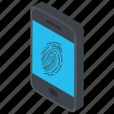 fingerprint lock, fingerprint pattern, mobile lock, screen lock, security features icon