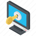 computer password, computer security, control panel, digital protection, login icon