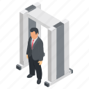 body scanner, detecting device, detector gate, security detector, security technology icon
