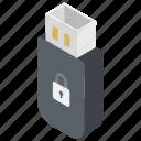 flash drive, usb lock, usb locker, usb password, usb secure icon