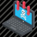computer crime, dangers of internet, internet frauds, internet scams, online risks icon