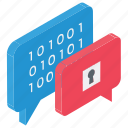 confidential chat, encrypted messaging, hidden message, secret chat, secret conversation icon
