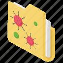 document virus, folder malware, infected folder, information virus, virus folder icon