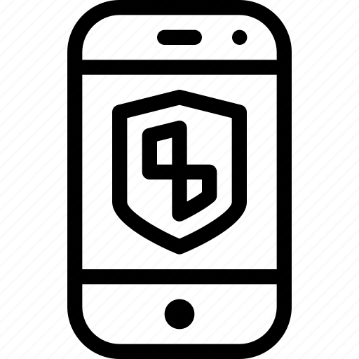 mobile, phone, protection, safety, security icon