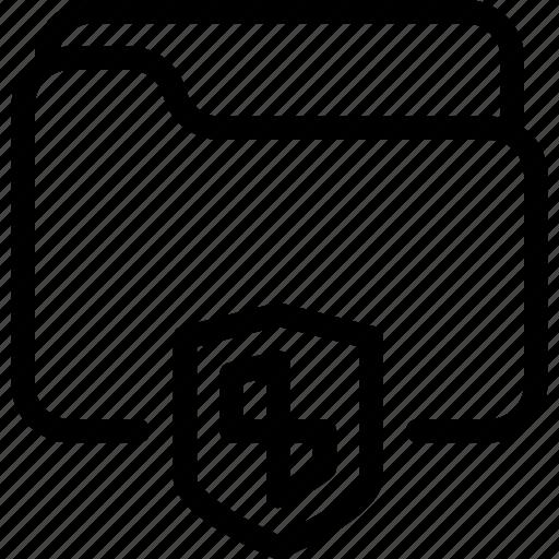 document, folder, lock, safe, secure icon