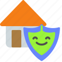 assurance, home, house, protection, shield icon