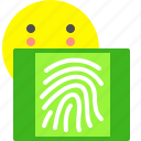 fingerprint, secure, unlock icon