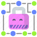 circuit, lock, protection, secured icon