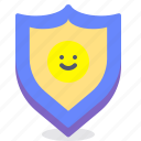 individual, protection, secure, shield icon